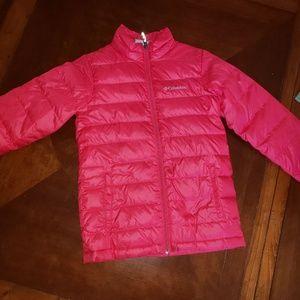 Columbia Girls Pink Puffer Jacket Size M